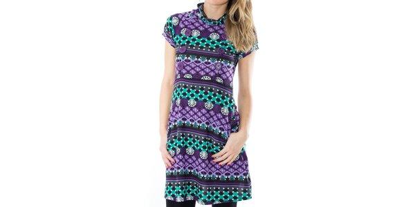 Dámské vzorované šaty s knoflíčky First