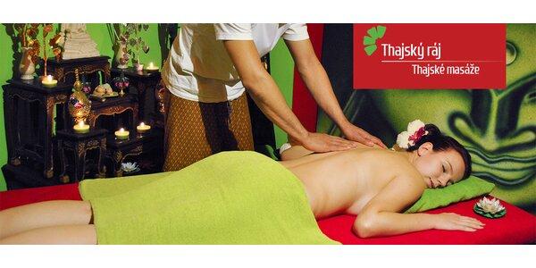 Úžasné masáže v salonech Thajský ráj (60/90 min)