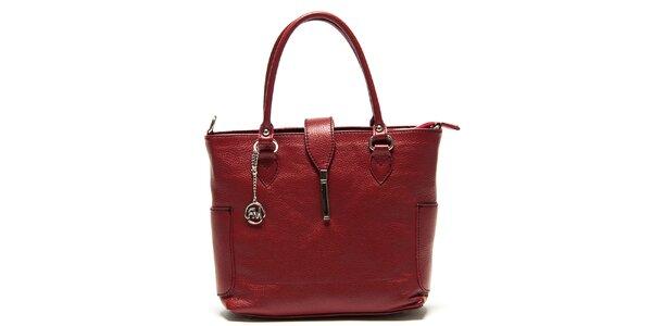 Dámská tmavě červená kabelka s bočními kapsami Roberta Minelli