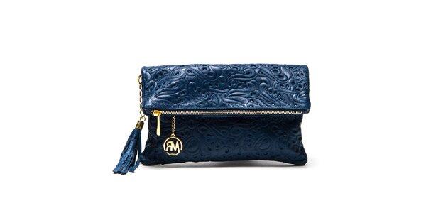 Dámská modrá vzorovaná taštička Roberta Minelli