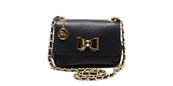 Dámská černá menší kabelka s mašlí Roberta Minelli