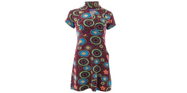 Dámské šaty s vícebarevným vzorem Purple Jam