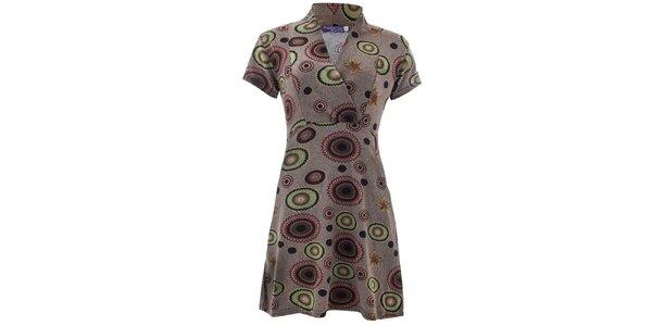 Dámské šaty s barevným vzorem Purple Jam