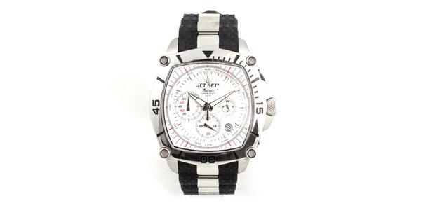 Unisex ocelové hodinky Jet Set s černými detaily