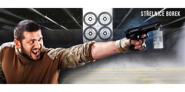Zážitková střelba na střelnici s novými modely zbraní