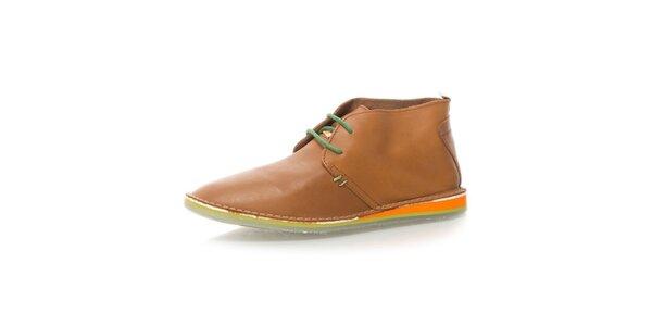 Pánské světle hnědé kotníkové boty Nobrand