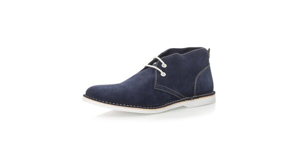 Pánské tmavomodré kotníkové boty Nobrand