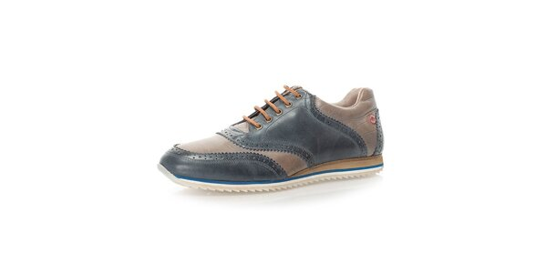 Pánské dvoubarevné kožené boty Nobrand