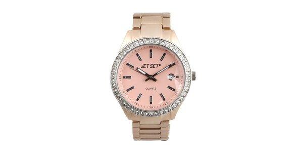 Dámské hodinky s růžovým ciferníkem Jet Set