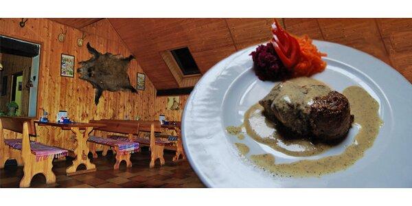Šťavnaté hovězí a vepřové steaky
