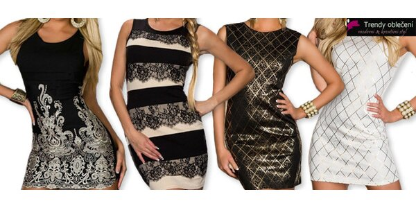 Společenské šaty - krátké, elegantní i svůdné