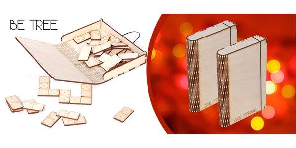 Dřevěná hra DOMINO s vlastním gravírováním vč. poštovného
