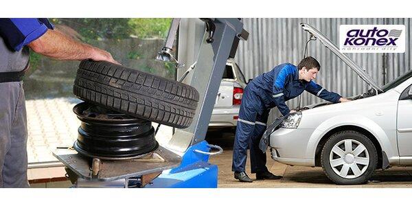 Výměna kol nebo přezutí pneu včetně diagnostiky