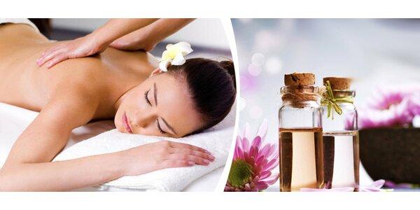 60 minut aromaterapeutické masáže + malý dárek