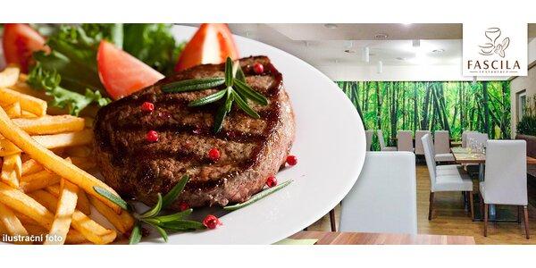 200 nebo 300g šťavnatý hanger steak