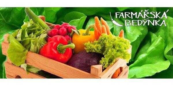 140 Kč za farmářskou bedýnku s čerstvým ovocem, zeleninou a dopravou zdarma