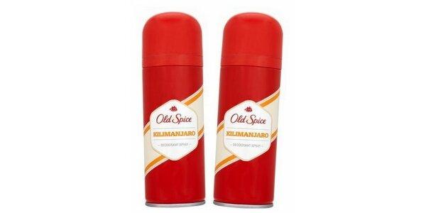 2 pánské deodoranty Old Spice Old spice Kilimanjaro pánský deosprej 150 ml, 2 ks