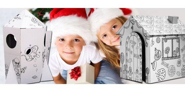 Velké hrací domky z kartonu pro děti
