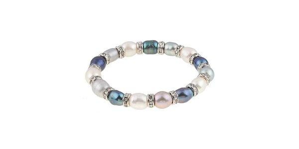 Dámský náramek s barevnými perlami Orchira