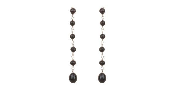 Dámské černé perlové náušnice Orchira