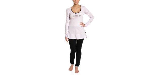 Dámské růžovo-černé pyžamo Vive Maria