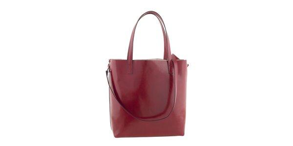 Dámská červená kabelka s popruhem Ore 10