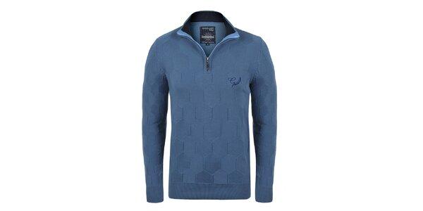 Pánský modrý svetr se vzorem Giorgio di Mare