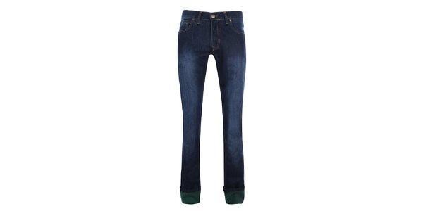 Pánské tmavě modré džíny s šisováním Giorgio di Mare