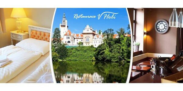 1 nebo 2 noci přímo u Průhonického zámku a parku