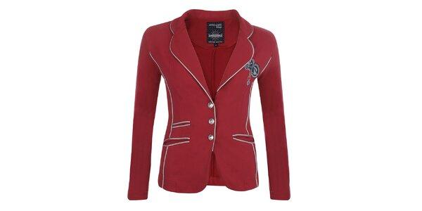 Dámské červené sako s kontrastním lemováním Giorgio Di Mare