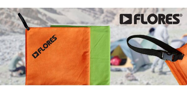 Sportovní a outdoorový ručník FLORES Trip Towel L