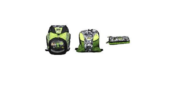 SET BEN10 3-5 třída Školní batoh+Sportovní vak+Pouzdro