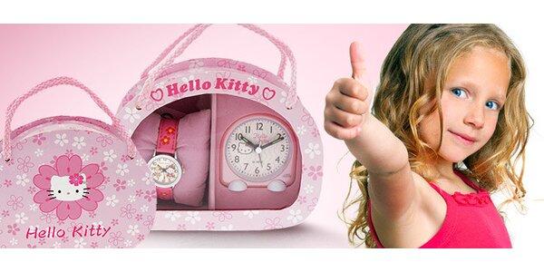 Dárkový set hodinek a budíku Hello Kitty - SG