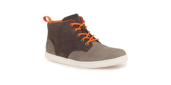 Dětské kotníkové boty s barevnými tkaničkami Clarks