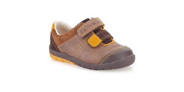 Dětské boty v hnědých odstínech Clarks