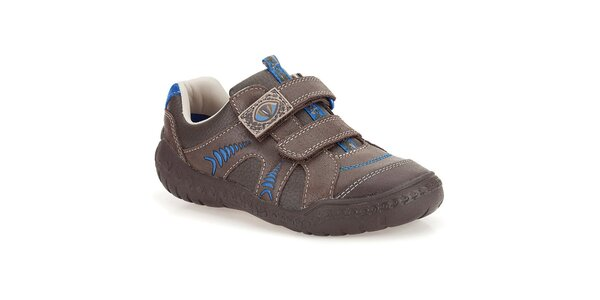 Dětské kožené boty s dinosauřím motivem Clarks