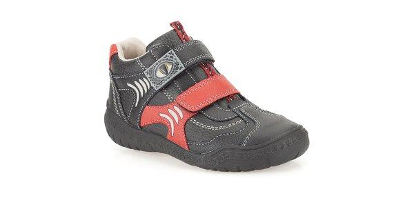 Dětské kotníkové boty s dinosauřím motivem Clarks