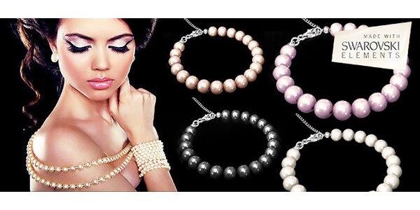 Náramky z pravého stříbra s perlami