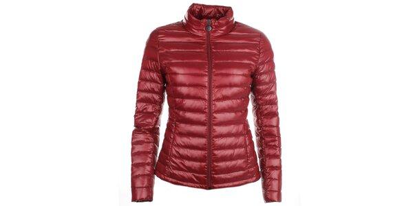 Dámská červená péřová bunda LWJ Collection