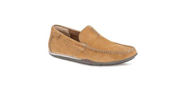 Pánské světle hnědé nazouvací boty Clarks