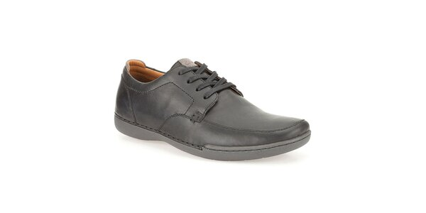Pánské kožené boty Clarks - černé