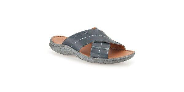 Pánské pantofle s tmavě modrými pásky Clarks