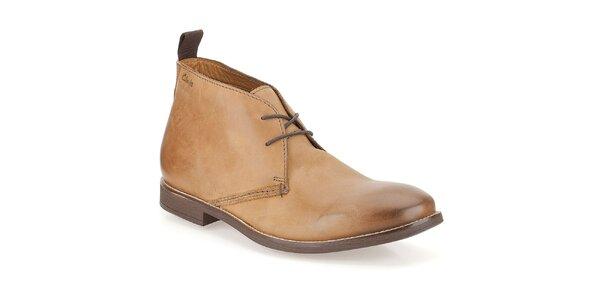 Pánské kožené kotníkové boty Clarks