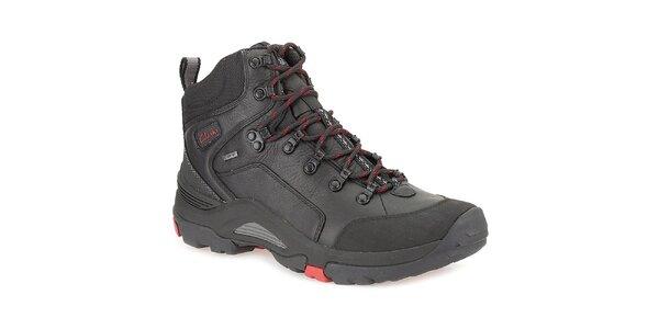 Pánské černé kotníkové boty s gore-texovou úpravou Clarks
