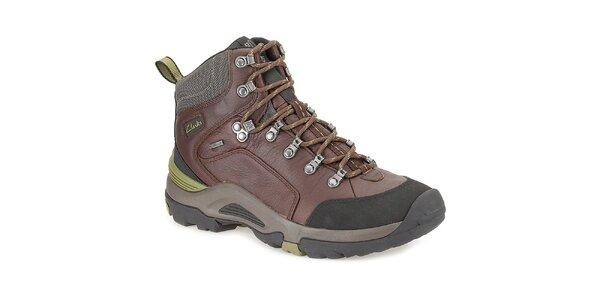 Pánské hnědé kotníkové boty s gore-texovou úpravou Clarks
