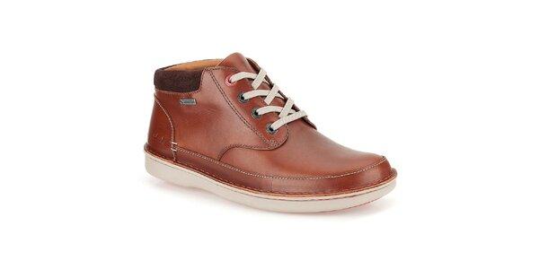 Pánské hnědé boty Clarks - kotníkové