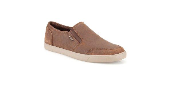 Pánské semišové boty Clarks - nazouvací