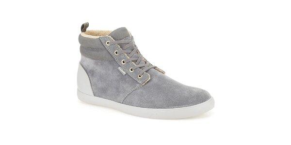 Pánské šedé semišové boty Clarks - kotníkové
