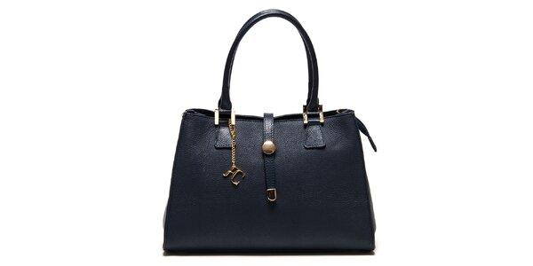 Dámská modrá kabelka se zlatými detaily Renata Corsi