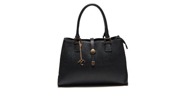 Dámská černá kabelka se zlatými detaily Renata Corsi